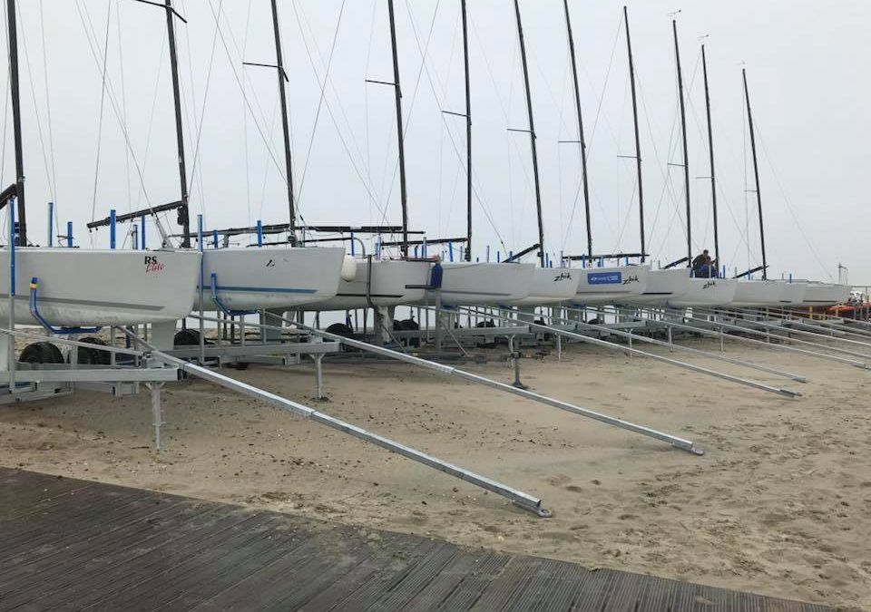 RS Elite dry sailing at Hayling Island Sailing Club